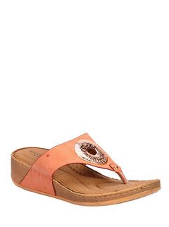 Sharon Peach Casual Slip-On Sandal