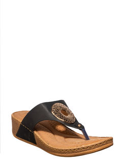 Sharon Black Casual Slip-On Sandal