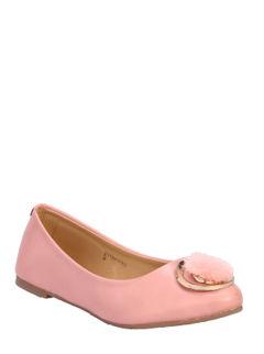Cleo Pink Casual Ballerina Shoe