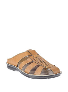 Khadim's Tan Ethnic Dress Sandal