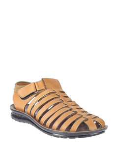 Khadim's Tan Lifestyle Fisherman Sandal