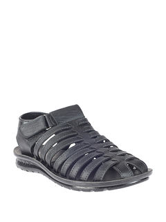 Khadim's Black Lifestyle Fisherman Sandal