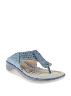Sharon Blue Casual Heel Sandal