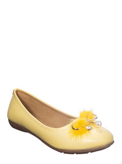 Cleo Yellow Casual Ballerina Shoe