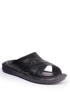 Khadim's Men Black Casual Slip-On Sandal