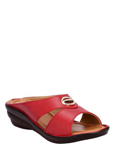 Khadim's Cherry Casual Mule Sandal