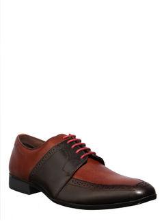 British Walkers Men Brown Formal Derby Shoe
