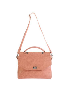 Khadim's Peach Satchel Sling Bag