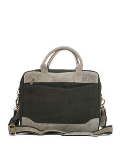 Khadim's Black Laptop Crossbody Bag
