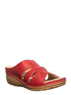 Sharon Cherry Casual Mule Sandal