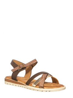 Cleo Brown Casual Strap-On Sandal