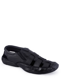 Lazard Men Black Casual Sandal