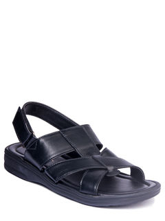 Khadim's Black Casual Strap-On Sandal