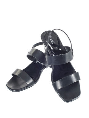 Sharon Women Black Casual Heel Sandal