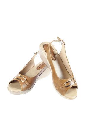 Sharon Women Tan Casual Heel Sandal