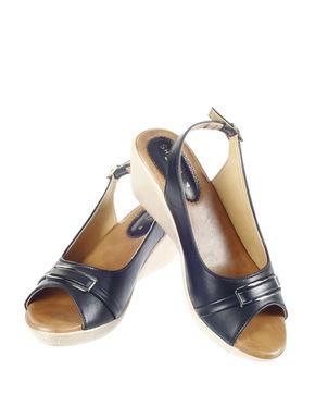 Sharon Women Black Casual Heel Sandal
