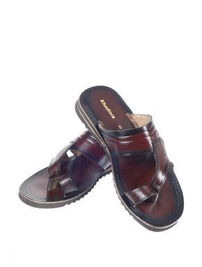 Khadim's Men Maroon Casual Slip-On Sandal