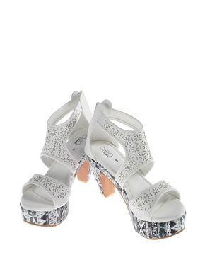 Cleo White Lifestyle Heel Sandal