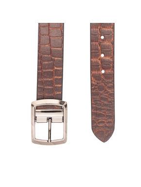 Khadim's Brown Casual Leather Belt