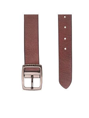Khadim's Maroon Office Leather Belt
