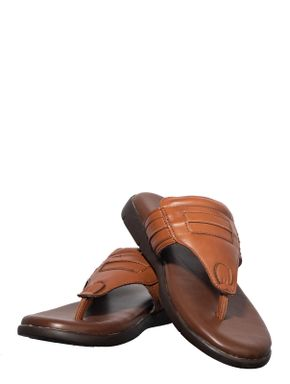 Softouch Men Tan Casual Dress Slipper