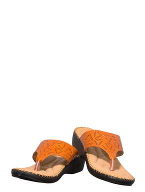 Softouch Orange Casual Slip-On Sandal