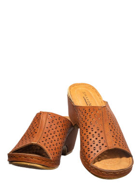 Sharon Brown Casual Mule Sandal