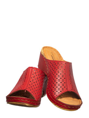 Sharon Cherry Casual Mule Sandal
