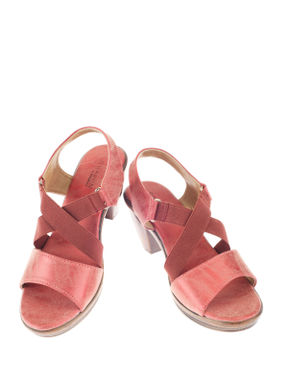Sharon Red Casual Heel Sandal