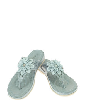 Sharon Blue Lifestyle Flat Sandal