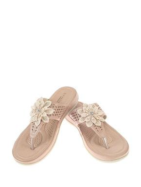 Sharon Rose Gold Lifestyle Flat Sandal