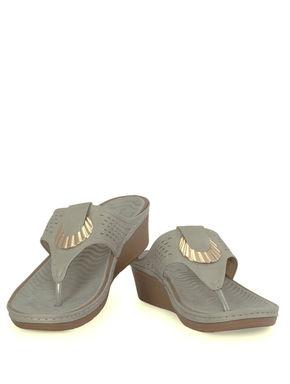 Sharon Grey Casual Slip-On Sandal