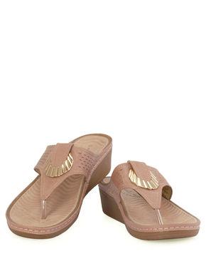 Sharon Pink Casual Slip-On Sandal