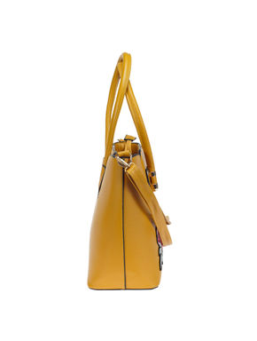 Khadim's Yellow Bog Shopper Handbag