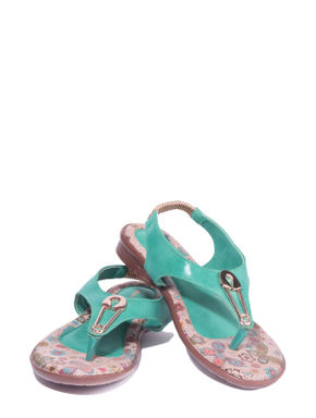 Adrianna Turquoise Casual Flat Sandal