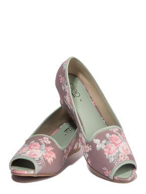 Cleo Grey Casual Ballerina Shoe