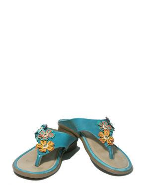 Adrianna Blue Casual Flat Sandal