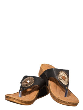 Sharon Black Casual Slip-On Sandal