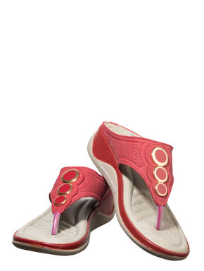 Sharon Cherry Casual Slip-On Sandal