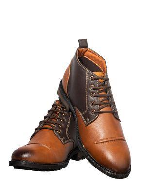 Turk Men Brown Outdoor Safari Boots