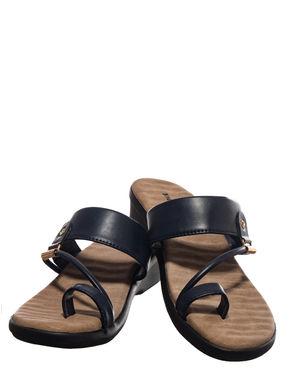 Khadim's Navy Casual Slip-On Sandal