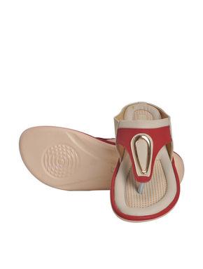 Khadim's Red Casual Slip-On Sandal