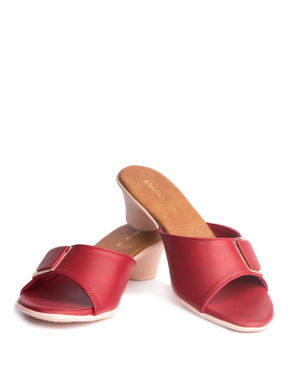 Khadim's Women Red Casual Mule Sandal