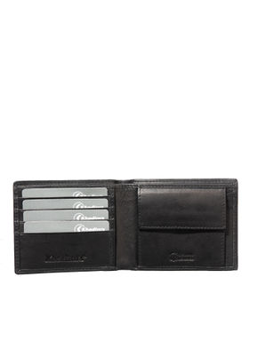 Khadim's Men Black Single-fold Wallet