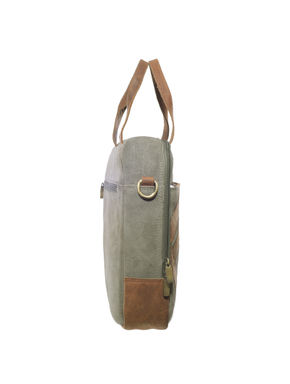 Khadim's Grey Laptop Crossbody Bag