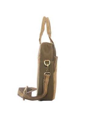 Khadim's Tan Laptop Crossbody Bag