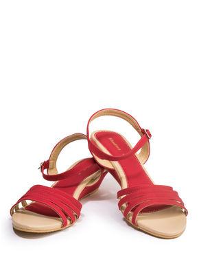 Khadim's Women Red Casual Heel Sandal
