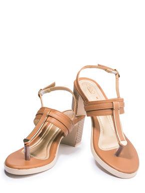 Khadim's Cleo Women Brown Casual Heel Sandal