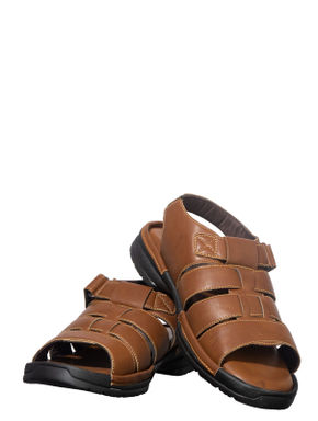 Softouch Men Brown Casual Mule Sandal