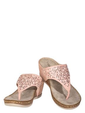 Sharon Women Pink Casual Heel Sandal